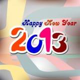 Diseño de tarjeta del Año Nuevo 2013 Imágenes de archivo libres de regalías