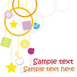 Diseño de tarjeta del bebé Fotos de archivo libres de regalías