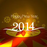 Diseño de tarjeta del día de fiesta de la Feliz Año Nuevo de la celebración Fotos de archivo libres de regalías