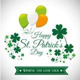 Diseño de tarjeta del día de los patricks del St, ejemplo del vector Foto de archivo libre de regalías