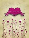 Diseño de tarjeta del día de tarjeta del día de San Valentín Fotografía de archivo libre de regalías