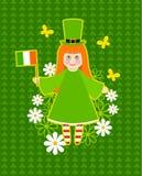 Diseño de tarjeta del día del St. Patrick Foto de archivo libre de regalías
