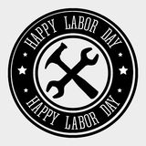 Diseño de tarjeta del Día del Trabajo, ejemplo del vector Imagenes de archivo