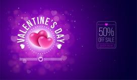 Diseño de tarjeta del día de tarjetas del día de San Valentín Imagen de archivo libre de regalías