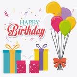 Diseño de tarjeta del feliz cumpleaños ilustración del vector