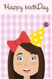 Diseño de tarjeta del feliz cumpleaños stock de ilustración