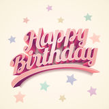 Diseño de tarjeta del feliz cumpleaños Imagen de archivo libre de regalías