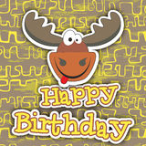 Diseño de tarjeta del feliz cumpleaños Ilustración del vector Fotos de archivo