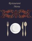 Diseño de tarjeta del menú Fotografía de archivo libre de regalías