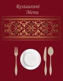 Diseño de tarjeta del menú Imagen de archivo
