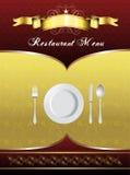 Diseño de tarjeta del menú Imagen de archivo libre de regalías