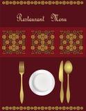 Diseño de tarjeta del menú Fotos de archivo