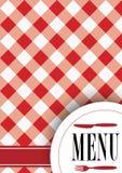 Diseño de tarjeta del menú Imágenes de archivo libres de regalías