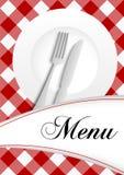 Diseño de tarjeta del menú ilustración del vector
