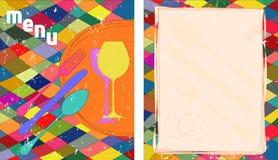 Diseño de tarjeta del menú Fotos de archivo libres de regalías