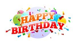 Diseño de tarjeta del partido de sorpresa del feliz cumpleaños Fotos de archivo