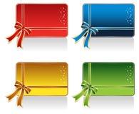 Diseño de tarjeta del regalo Fotos de archivo
