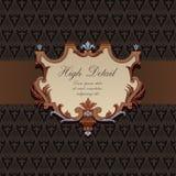 Diseño de tarjeta del regalo en estilo de la vendimia. Fotos de archivo libres de regalías