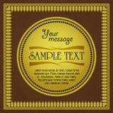 Diseño de tarjeta del vintage para la tarjeta de felicitación, invitación, menú, modelo del vector Imagenes de archivo