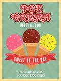 Diseño de tarjeta elegante del menú del helado Foto de archivo