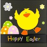 Diseño de tarjeta feliz de pascua Imagen de archivo