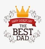 Diseño de tarjeta feliz del día de padres stock de ilustración