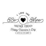 Diseño de tarjeta feliz del día del ` s de la tarjeta del día de San Valentín Fotos de archivo