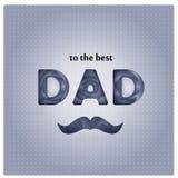 Diseño de tarjeta feliz del día del ` s del padre ilustración del vector