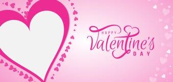 Diseño de tarjeta feliz del día de tarjetas del día de San Valentín stock de ilustración