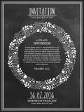 Diseño de tarjeta floral hermoso de la invitación ilustración del vector