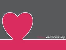 Diseño de tarjeta simple de la tarjeta del día de San Valentín Fotografía de archivo libre de regalías