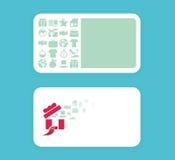 Diseño de tarjeta suave moderno del color con los iconos de las compras Ilustración del Vector