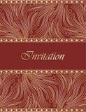 Diseño de tarjeta tradicional de la invitación Fotos de archivo