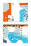 diseño de tres veces del folleto Foto de archivo
