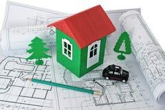 Diseño de una casa de campo Imagen de archivo libre de regalías