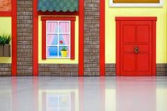 Diseño de una sala de juegos del ` s de los niños Adornos coloridos brillantes del hada-cuento Contra la pared Imágenes de archivo libres de regalías