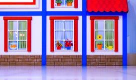 Diseño de una sala de juegos del ` s de los niños Adornos coloridos brillantes del hada-cuento Contra la pared Imagenes de archivo