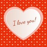 Diseño de una tarjeta para el día del ` s de la tarjeta del día de San Valentín Foto de archivo libre de regalías