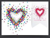 Diseño de Valentine Card Foto de archivo libre de regalías