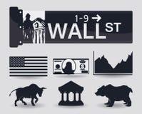 Diseño de Wall Street, ejemplo del vector Fotografía de archivo libre de regalías