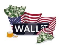 Diseño de Wall Street, ejemplo del vector Imagen de archivo