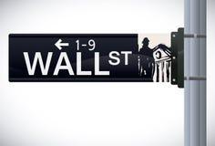 Diseño de Wall Street, ejemplo del vector Foto de archivo
