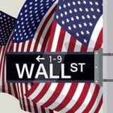 Diseño de Wall Street, ejemplo del vector Imágenes de archivo libres de regalías