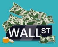 Diseño de Wall Street, ejemplo del vector Fotos de archivo