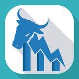 Diseño de Wall Street, ejemplo del vector Fotos de archivo libres de regalías