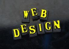Diseño de Web Foto de archivo libre de regalías