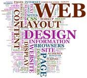 Diseño de Web ilustración del vector