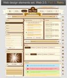 Diseño de Web 3 retros determinados Imagen de archivo