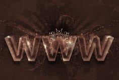 Diseño de WWW de la vendimia fotografía de archivo
