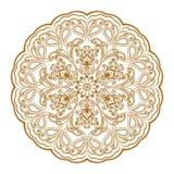 Diseño decorativo de la alheña de la India Imagenes de archivo
